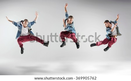 Three Hip Hop Dancers On Studio Foto de stock (libre de regalías ...