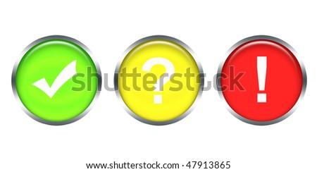 three icons - stock photo