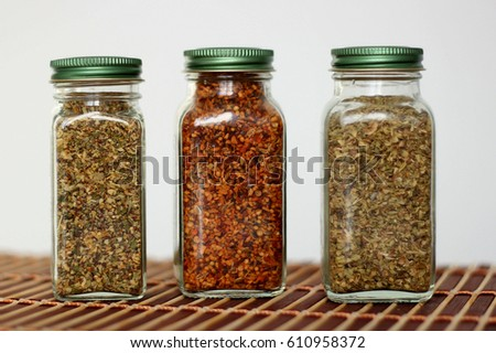 three jars of spices - Spice Jars