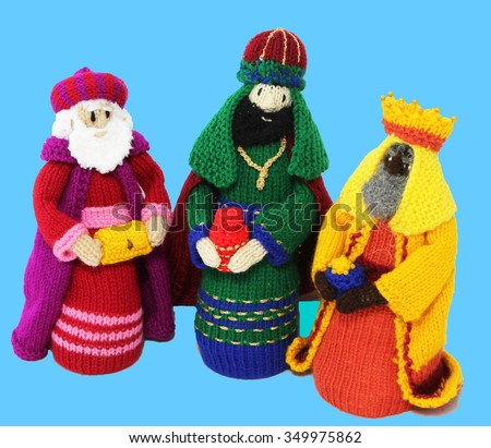 Three Knitted Kings  - stock photo