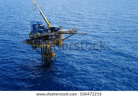 Three Legged Oil and Gas Production Platform - stock photo