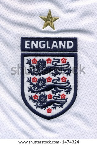 Three Lions close up of an england football jersey - stock photo