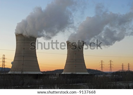 Three Mile Island Nuclear Generating Station, Pennsylvania - stock photo