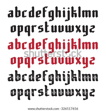 Three Modern Gothic Style Fonts - stock photo