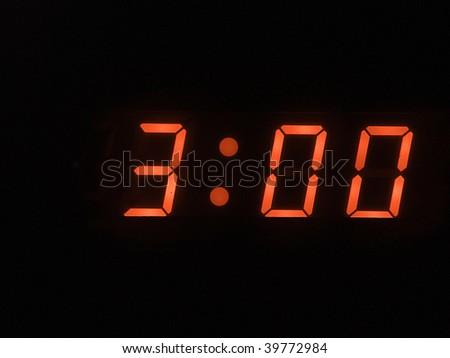 three o clock am - stock photo