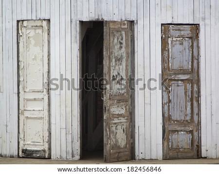 Old Open Door Stock Photos, Images, & Pictures   Shutterstock