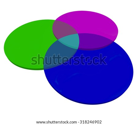 Three 3 venn diagram overlapping circles stock illustration three or 3 venn diagram overlapping circles to illustrate shared or common qualities characteristics ccuart Images