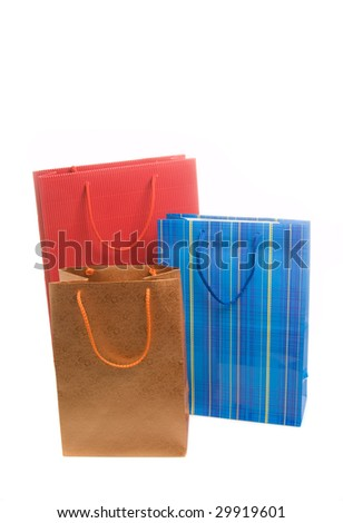 Three paper bags for gifts