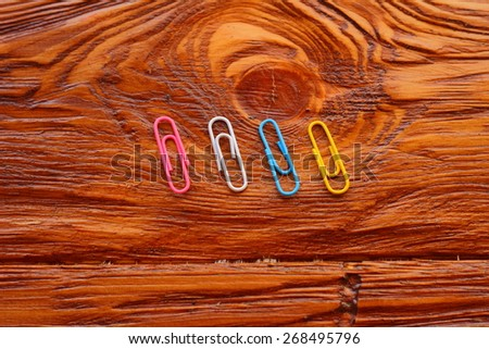three paper clips - stock photo