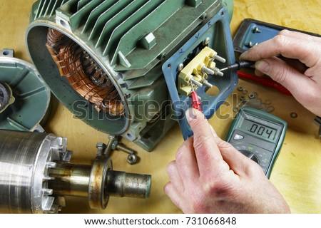 Three Phase Induction Motor Bearing Repair Stock Photo (Royalty Free ...