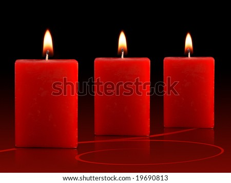 Three Red Candles