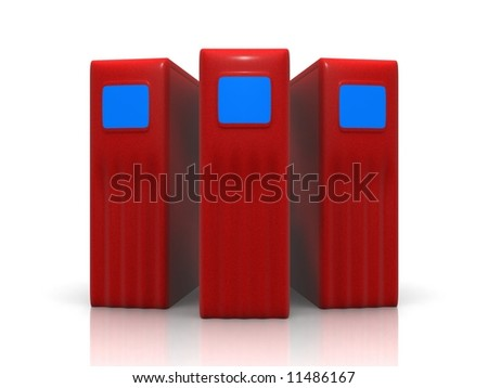 three red servers