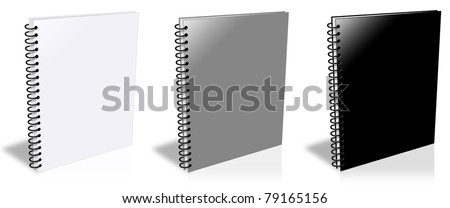 Three ring binder isolated on white - stock photo
