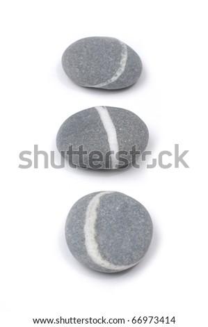Three sea striped stone - stock photo