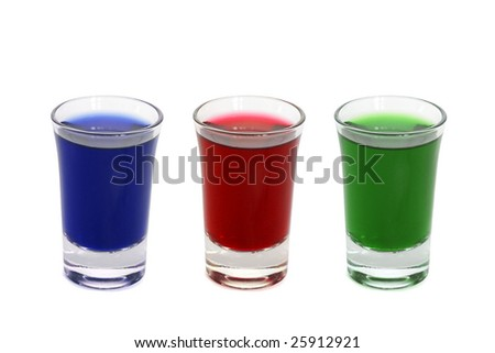 Three shot glasses - stock photo