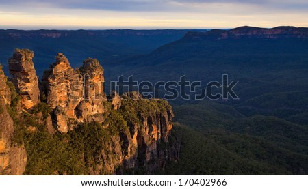 Three Sisters, Blue Mountains, Australia - stock photo
