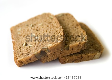 Three slices of bread