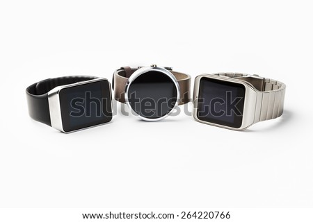 Three smart watches - stock photo