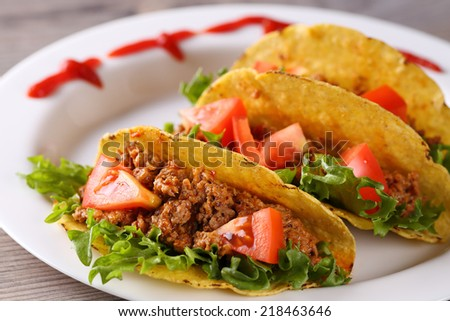 three spice taco shells on the plate