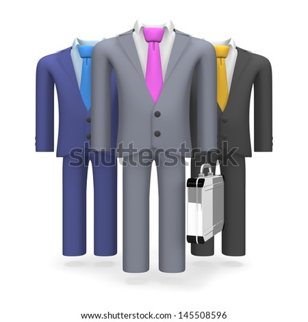Three Standing Business Suits
