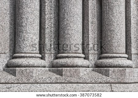 Three stone pillars as a background image