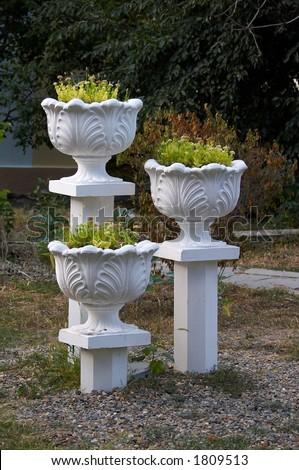 Three vase - stock photo