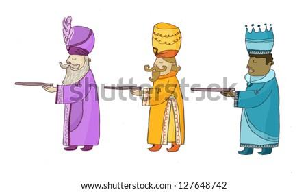 three wise men - stock photo