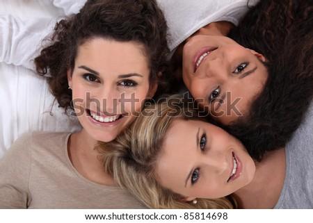 Three woman portrait. - stock photo
