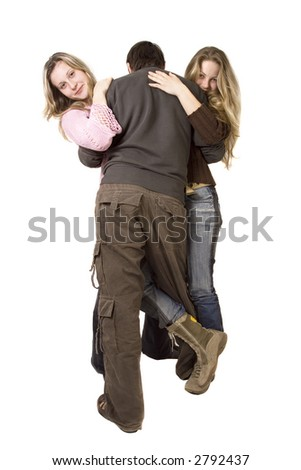 threesome - stock photo