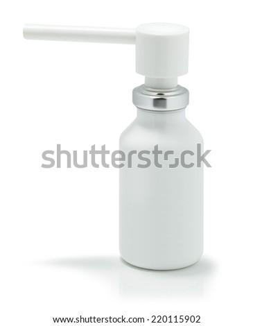 Throat spray isolated on white background - stock photo