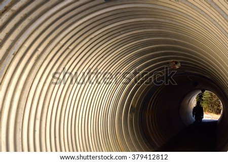 Through the Tunnel - stock photo