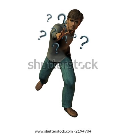 Throwing out questions - stock photo