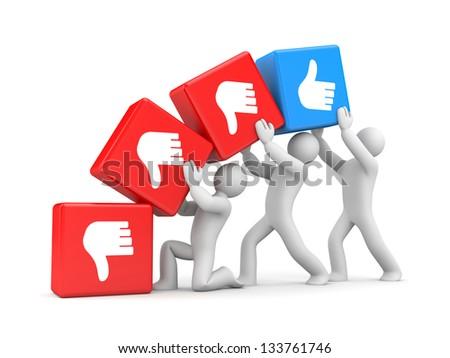 Thumb's up - stock photo