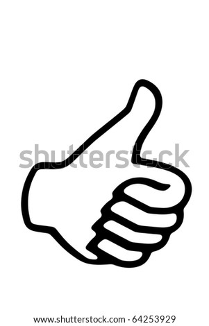 Thumb up - stock photo