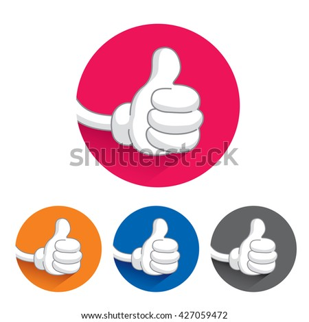 thumb up buttons. illustration isolated on white background - stock photo