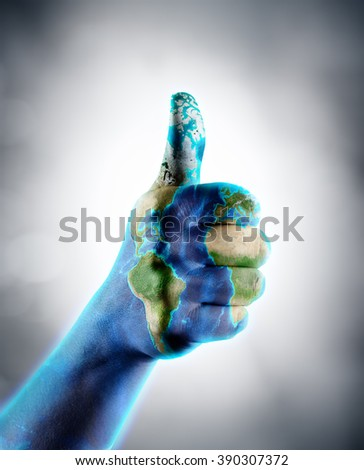Thumb Up - Earth Day - Images furnished by Nasa