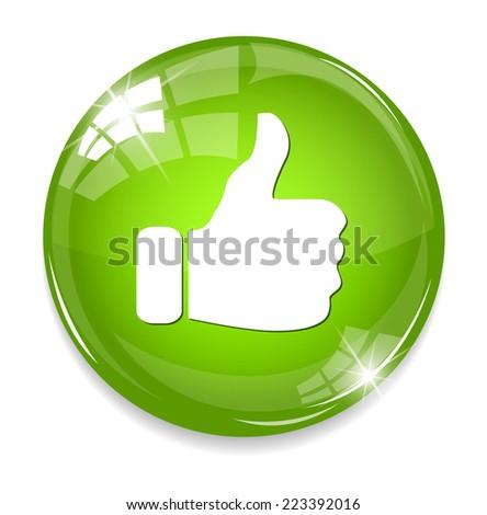 thumb up icon - stock photo