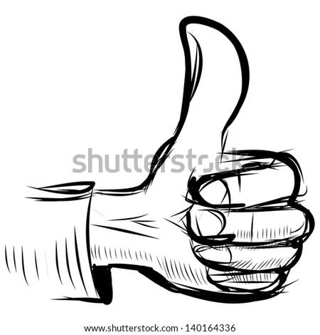 "Thumb up ""like"" hand symbol - stock photo"