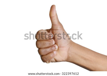 thumb up sign isolated