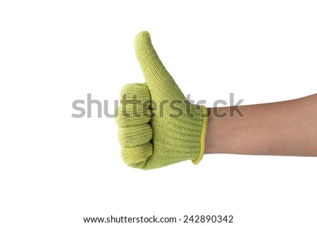 Thumb Up, Sign of victory - stock photo