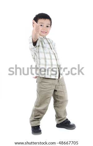 thumbing kid - stock photo