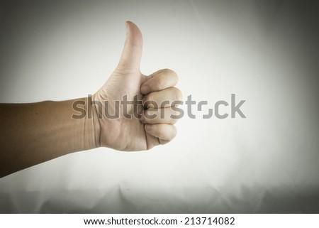 thumbs - stock photo