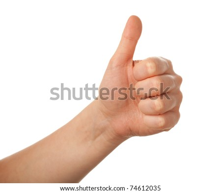 thumbs up isolated - stock photo