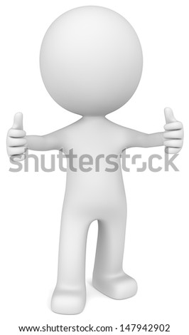 Thumbs Up. The Dude giving thumbs up. - stock photo