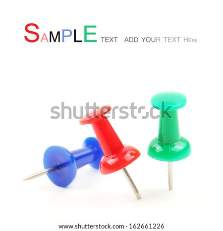 Thumbtack on white background