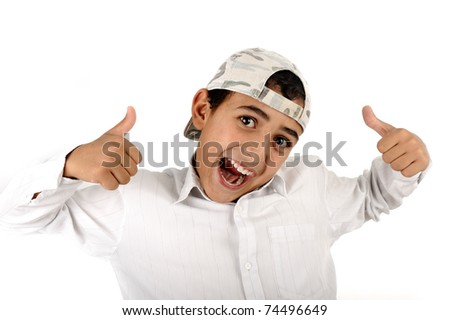 thumping kid boy - stock photo