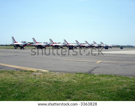 thunder birds lined up