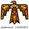 Thunderbird - Native American Indian Symbol - stock photo