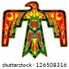 Thunderbird - Native american symbol - stock photo
