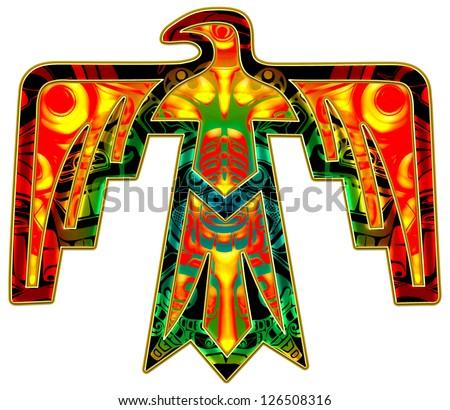 Thunderbird - Native american symbol - stock photo
